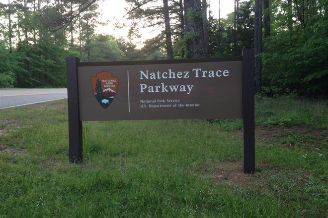 Natchez Trace Parkway Sign