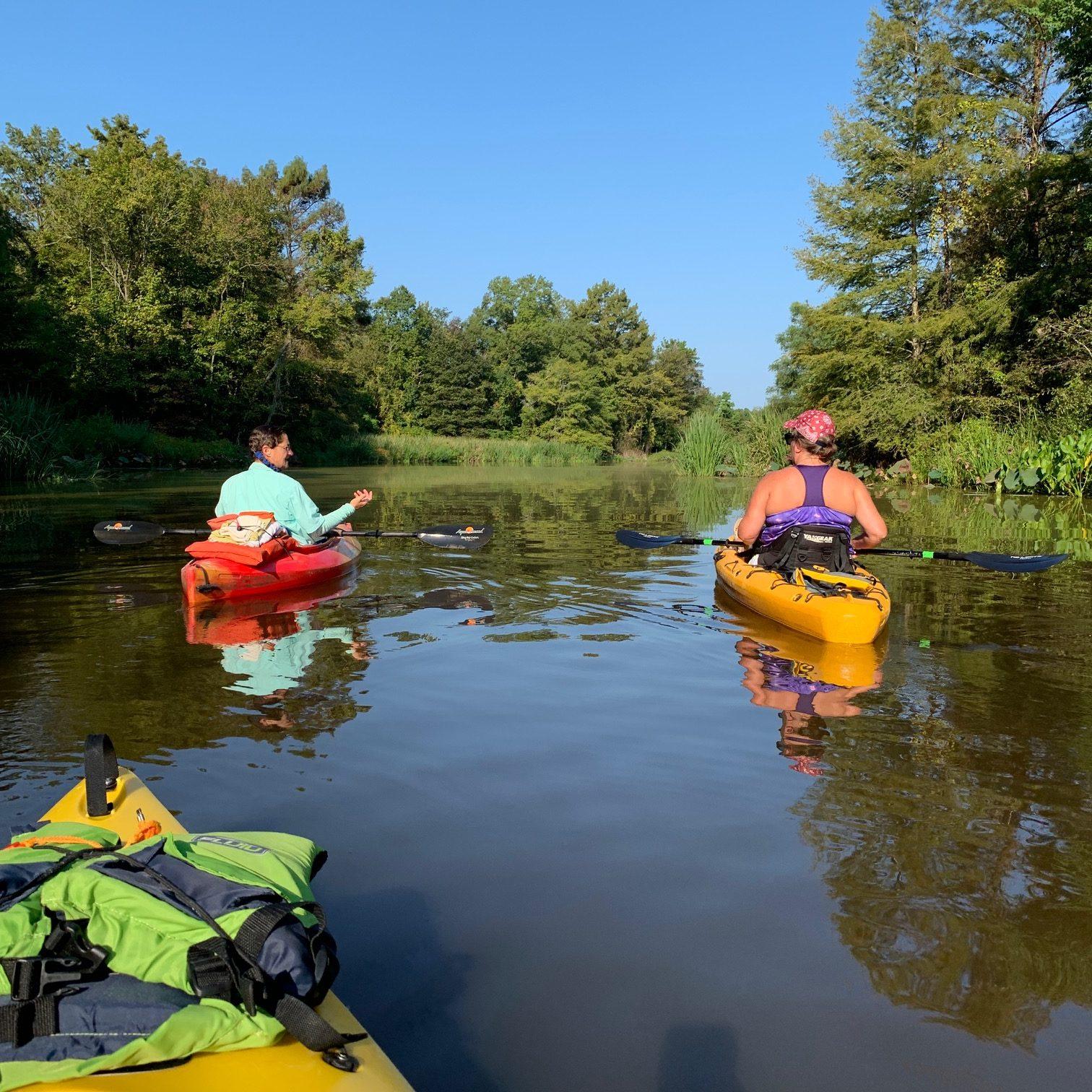 Kayaking on Barnett Reservoir