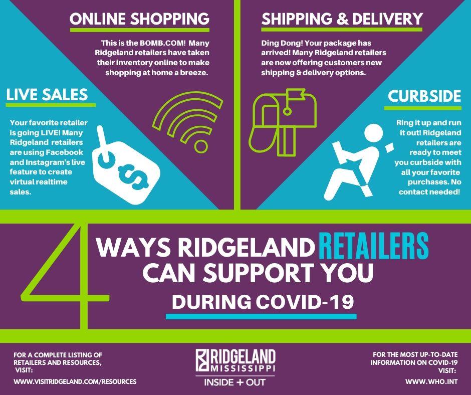 Ridgeland Retail Shop COVID 19 Services
